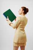 Career girl with folders Stock Image