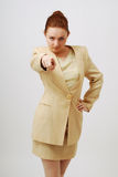 Career Girl Pointing The Finger At Camera Royalty Free Stock Photo