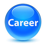 Career glassy cyan blue round button Stock Photography