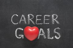 Career goals heart Stock Image