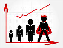 Career growth. With graphic on grey background Stock Photo
