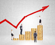 Career growth Royalty Free Stock Images