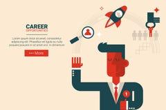 Career growth concept Stock Photos