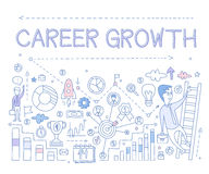 Career Growth Infographics. Vector Illustration Stock Photography