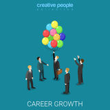 Career growth job change headhunting flat isometric vector 3d Royalty Free Stock Photography