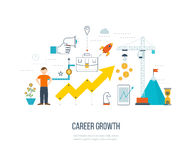 Career growth, selecting candidates. Financial strategy concept. Stock Photos