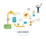 Career growth, selecting candidates. Financial strategy concept. Career growth, selecting candidates, career ladder.  Financial strategy concept. Business Royalty Free Stock Images