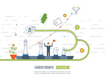 Career growth, selecting candidates. Financial strategy concept. Royalty Free Stock Photo