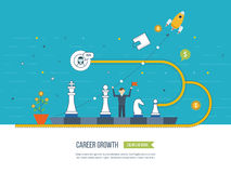 Career growth, selecting candidates. Financial strategy concept. Stock Images