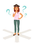 Career guidance. Vector illustration Royalty Free Stock Images