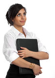 Career hopes. Young, attractive businesswoman with high hopes for her career Royalty Free Stock Photo