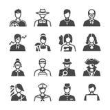 Career icon set Stock Image