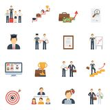 Career Icons Flat Set Stock Photography