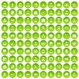 100 career icons set green circle. Isolated on white background vector illustration royalty free illustration