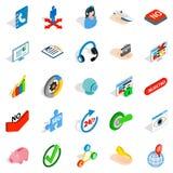 Career icons set, isometric style Stock Photos