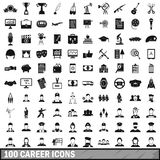 100 career icons set in simple style. For any design vector illustration Royalty Free Stock Photos
