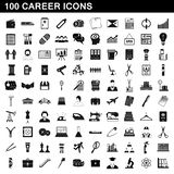 100 career icons set, simple style. 100 career icons set in simple style for any design illustration royalty free illustration