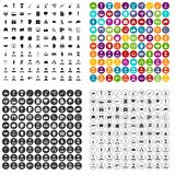 100 career icons set vector variant. 100 career icons set vector in 4 variant for any web design isolated on white Stock Photos