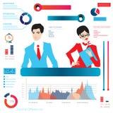 Career infographic, Illustration of buisnessman Stock Image