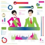 Career infographic, Illustration of buisnessman Stock Photo