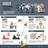 Career Infographics Set Royalty Free Stock Photos