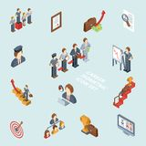 Career Isometric Set Royalty Free Stock Photography