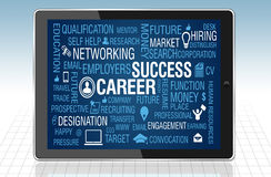 Career and Job Success Concept in tablet PC Royalty Free Stock Image