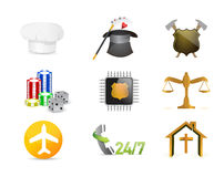 career jobs concept icon set illustration Stock Photography