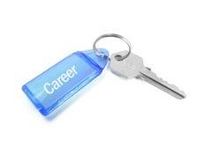 Career Key Ring. On Isolated White Background Royalty Free Stock Photography