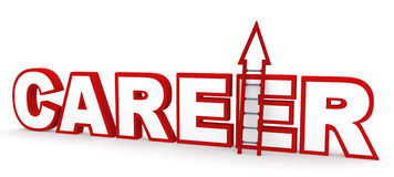 Career Ladder. Career concept in 3D, depicting climbing up a career ladder Royalty Free Stock Photos