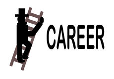 The Career Ladder royalty free illustration