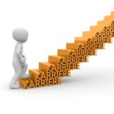 The career ladder. Is a challenge for the employee a large company Royalty Free Stock Photo