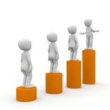 The career ladder. Is a challenge for the employee a large company Royalty Free Stock Photos