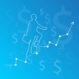 Career ladder climbing art Stock Images