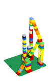 Career ladder from colored blocks. Or skyscraper Stock Photography