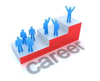 Career ladder concept. 3D image Royalty Free Stock Image