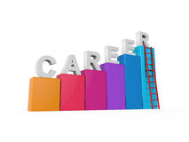 Career Ladder Isolated. On white background. 3D render Stock Photos