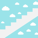 Career ladder to clouds Stock Photo