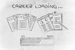 Career loading: CV and shortlist of candidates Stock Images