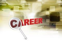 Career with magnifier Stock Photos