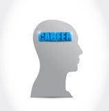 Career on my mind. illustration design Stock Image