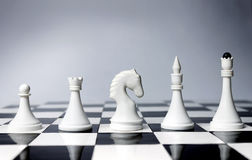 Career Opportunities in chess. Career Opportunities presented in chess pieces on board Stock Image