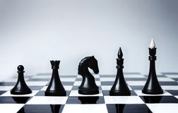 Career Opportunities in chess. Career Opportunities presented in chess pieces on board Stock Photos