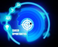 Career Opportunities concept plan graphic. Background Royalty Free Stock Image