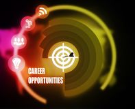 Career Opportunities concept plan graphic. Background Stock Photography