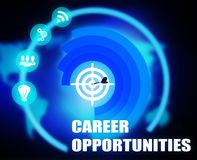 Career Opportunities concept plan graphic. Background Stock Photo