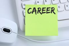Career opportunities goals success and development business conc. Ept mouse computer keyboard Stock Photo