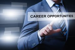 Career Opportunities Motivation Business Success Corporate Concept.  Stock Photography