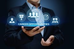 Career Opportunities Motivation Business Success Corporate Concept.  Stock Photo