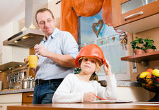 Career options discussed in family Royalty Free Stock Photos